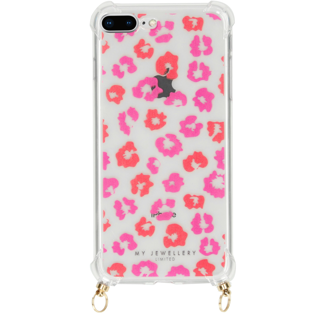 My Jewellery Design Softcase Koordhoesje iPhone 8 Plus / 7 Plus - Leopard