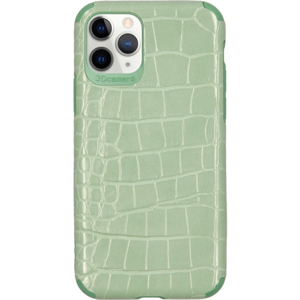 My Jewellery Croco Softcase Backcover iPhone 11 Pro - Groen