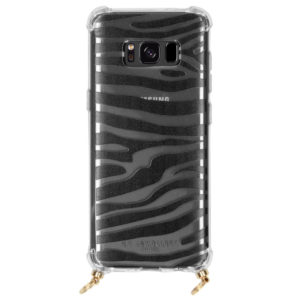 My Jewellery Design Softcase Koordhoesje Samsung Galaxy S8 - Zebra