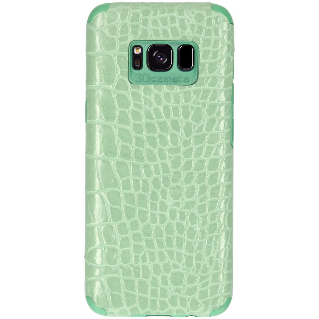 My Jewellery Croco Softcase Backcover Samsung Galaxy S8 - Groen