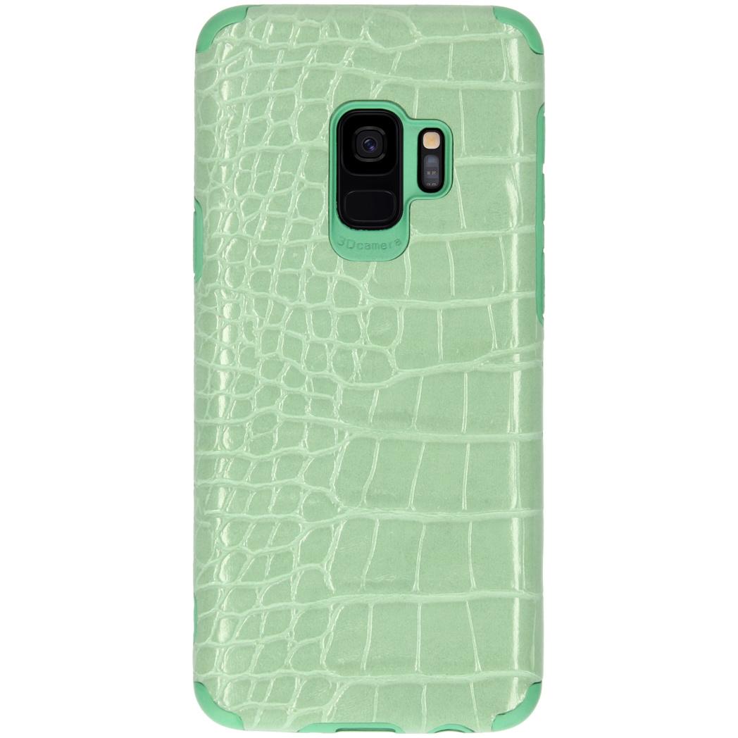 My Jewellery Croco Softcase Backcover Samsung Galaxy S9 - Groen