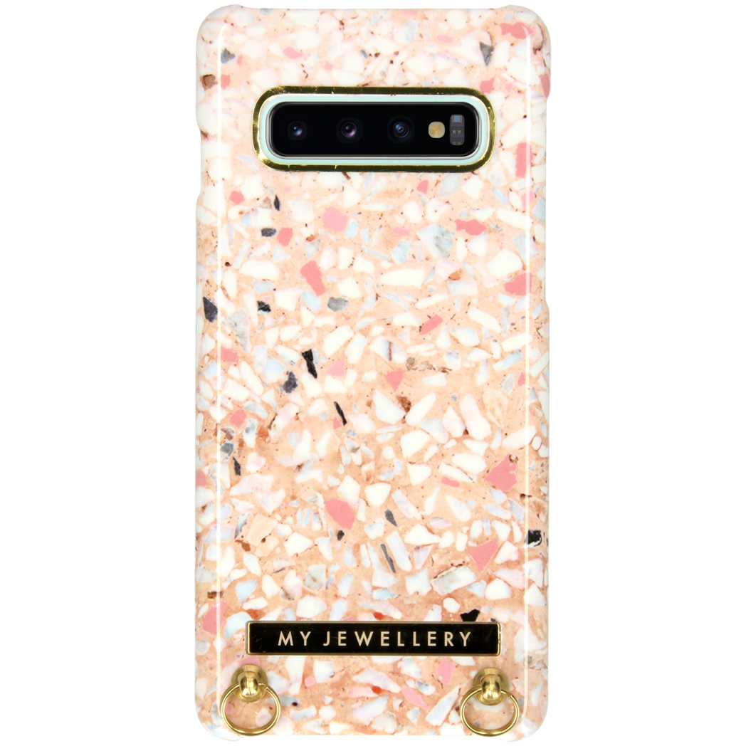 My Jewellery Design Hardcase Koordhoesje Samsung Galaxy S10 - Pink Brick