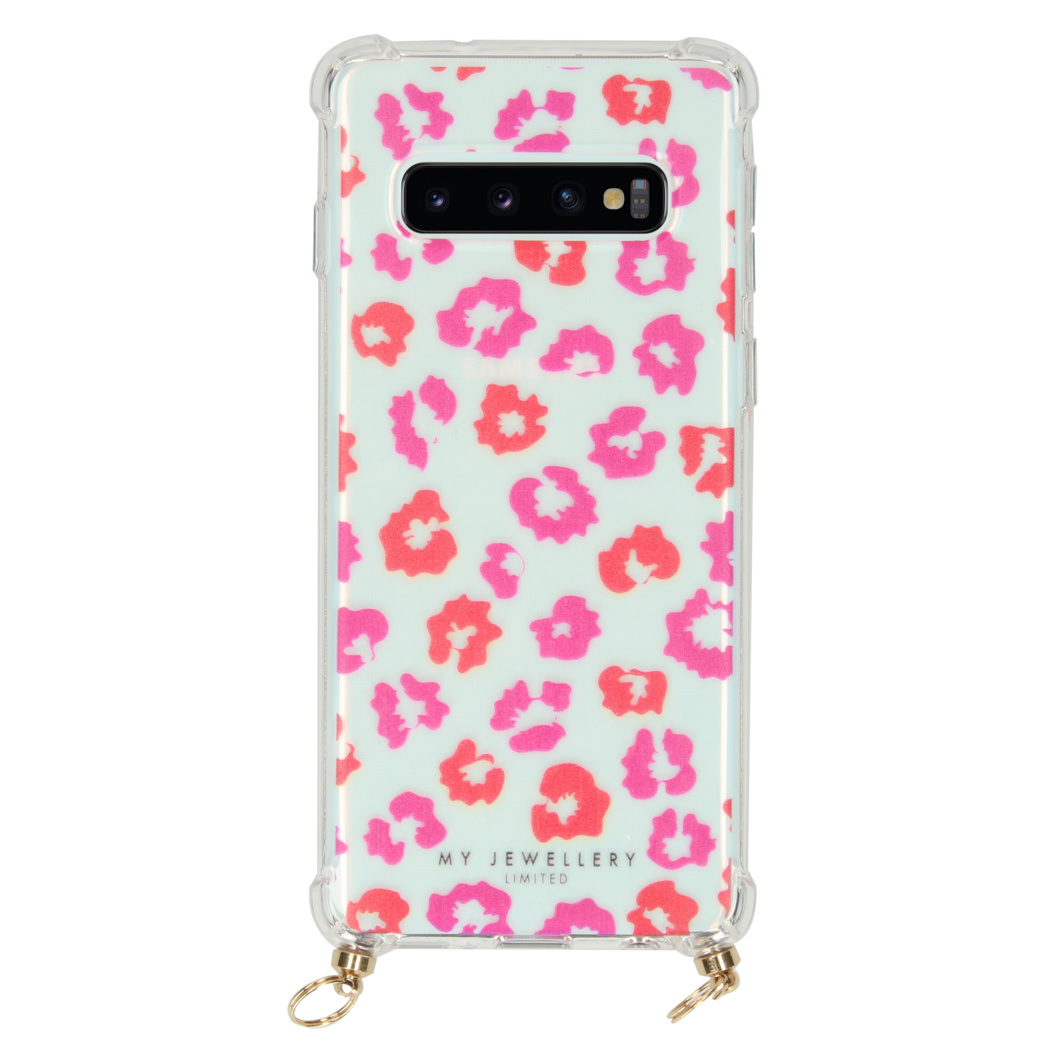 My Jewellery Design Softcase Koordhoesje Samsung Galaxy S10 - Leopard