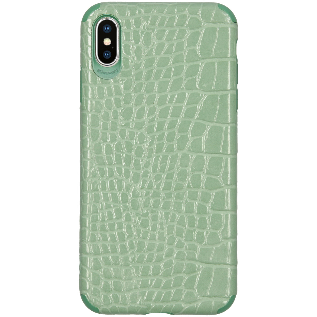 My Jewellery Croco Softcase Backcover iPhone Xs Max - Groen