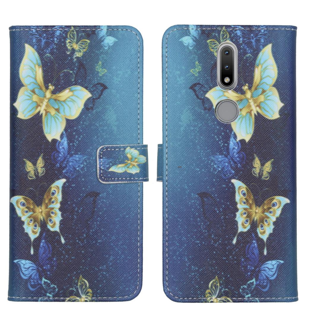 iMoshion Design Softcase Book Case Nokia 2.4 - Vlinders