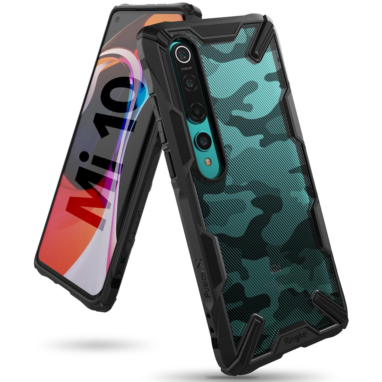Ringke Fusion X Design Backcover Xiaomi Mi 10 (Pro) - Camo Zwart