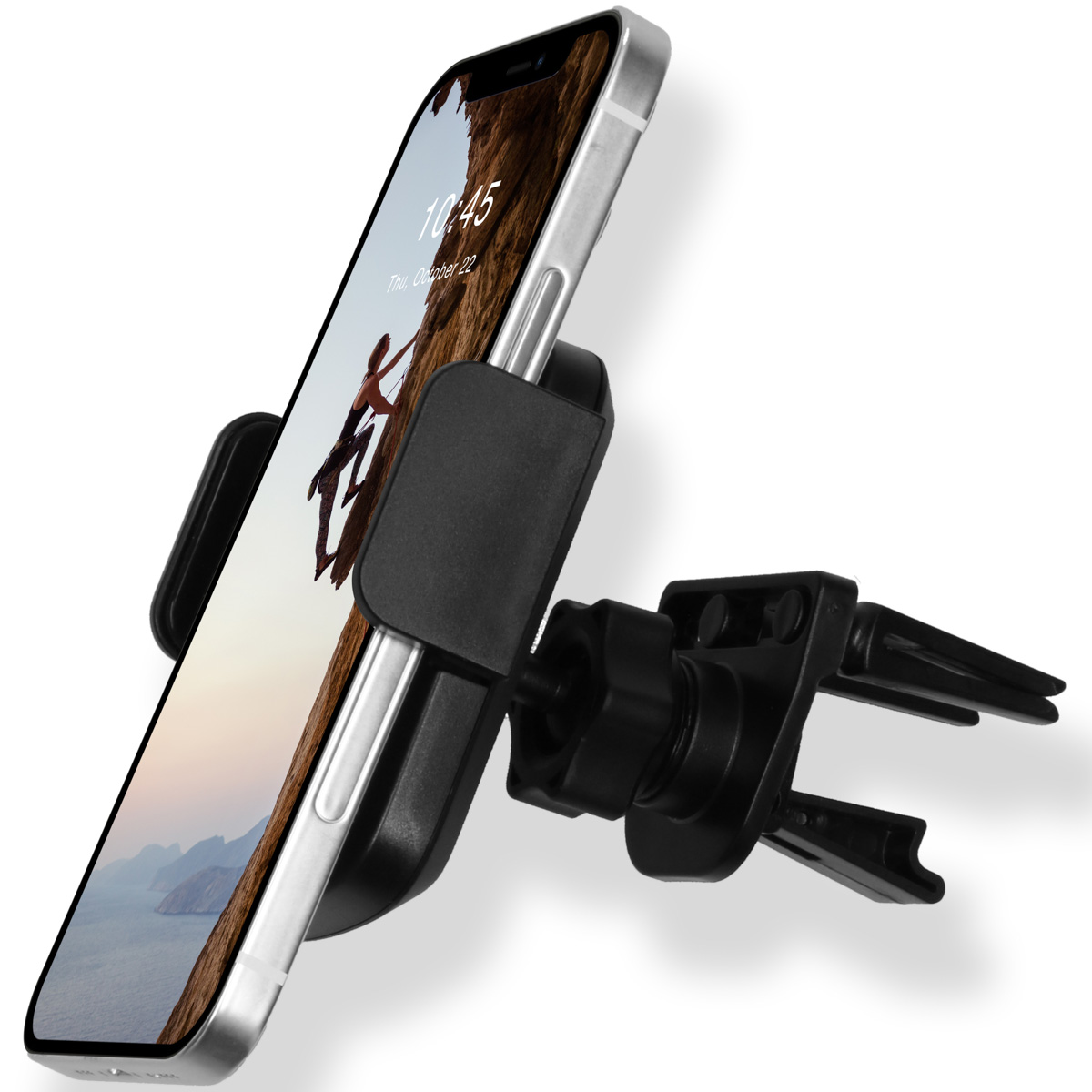 Accezz Universele smartphone autohouder ventilatierooster - Zwart