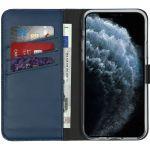 Selencia Echt Lederen Booktype iPhone 11 Pro - Blauw