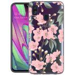 iMoshion Design hoesje Samsung Galaxy A40 - Bloem - Roze / Groen