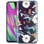 iMoshion Design hoesje Samsung Galaxy A40 - Bloem - Wit
