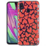 iMoshion Design hoesje Samsung Galaxy A40 - Hartjes - Rood