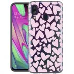 iMoshion Design hoesje Samsung Galaxy A40 - Hartjes - Roze