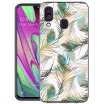 iMoshion Design hoesje Samsung Galaxy A40 - Pauw - Groen / Goud