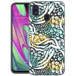 iMoshion Design hoesje Galaxy A40 - Jungle - Wit / Zwart / Groen