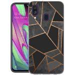 iMoshion Design hoesje Galaxy A40 - Grafisch Koper - Zwart / Goud