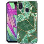iMoshion Design hoesje Galaxy A40 - Grafisch Koper - Groen / Goud