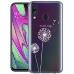 iMoshion Design hoesje Samsung Galaxy A40 - Paardenbloem - Wit