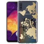 iMoshion Design hoesje Galaxy A50 / A30s - Let's Go Travel - Zwart