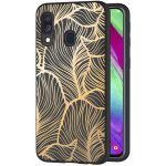 iMoshion Design hoesje Samsung Galaxy A40 - Bladeren - Goud / Zwart