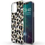 iMoshion Design hoesje iPhone 12 (Pro) - Luipaard - Goud / Zwart