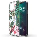 iMoshion Design hoesje iPhone 12 (Pro) - Jungle - Groen / Roze