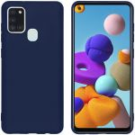 iMoshion Color Backcover Samsung Galaxy A21s - Donkerblauw