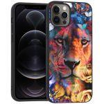 iMoshion Design hoesje iPhone 12 (Pro) - Jungle - Leeuw