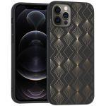 iMoshion Design hoesje iPhone 12 (Pro) - Patroon - Zwart / Goud