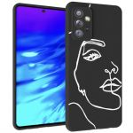 iMoshion Design hoesje Samsung Galaxy A72 - Abstract Gezicht - Wit