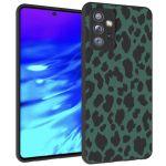 iMoshion Design hoesje Samsung Galaxy A72 - Luipaard - Groen / Zwart