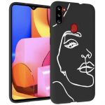 iMoshion Design hoesje Galaxy M11 / A11 - Abstract Gezicht - Wit