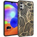iMoshion Design hoesje Galaxy A32 (5G) - Bladeren - Zwart / Goud
