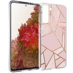 iMoshion Design hoesje Galaxy S21 - Grafisch Koper - Roze / Goud