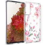 iMoshion Design hoesje Samsung Galaxy S21 - Bloem - Roze