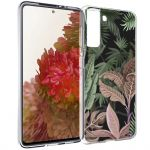 iMoshion Design hoesje Samsung Galaxy S21 - Jungle - Groen / Roze
