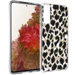 iMoshion Design hoesje Samsung Galaxy S21 - Luipaard - Goud / Zwart