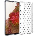 iMoshion Design hoesje Samsung Galaxy S21 - Hartjes - Zwart