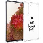 iMoshion Design hoesje Samsung Galaxy S21 - Live Laugh Love - Zwart