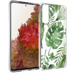 iMoshion Design hoesje Samsung Galaxy S21 - Bladeren - Groen