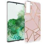 iMoshion Design hoesje Galaxy S21 Plus - Grafisch Koper - Roze / Goud