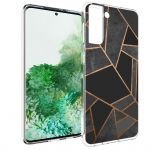 iMoshion Design hoesje Galaxy S21 Plus - Grafisch Koper - Zwart /Goud