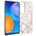 iMoshion Design hoesje Huawei P Smart (2021) - Grafisch Koper - Wit