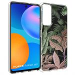 iMoshion Design hoesje Huawei P Smart (2021) - Jungle - Groen / Roze