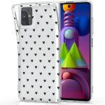 iMoshion Design hoesje Samsung Galaxy M51 - Hartjes - Zwart