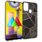 iMoshion Design hoesje Galaxy M31 - Grafisch Koper - Zwart / Goud