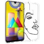 iMoshion Design hoesje Samsung Galaxy M31 - Abstract Gezicht - Zwart