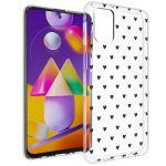 iMoshion Design hoesje Samsung Galaxy M31s - Hartjes - Zwart