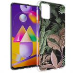 iMoshion Design hoesje Samsung Galaxy M31s - Jungle - Groen / Roze