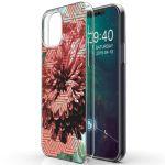 iMoshion Design hoesje iPhone 12 (Pro) - Grafisch - Bloem Roze