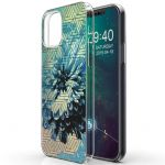 iMoshion Design hoesje iPhone 12 (Pro) - Grafisch - Bloem Blauw